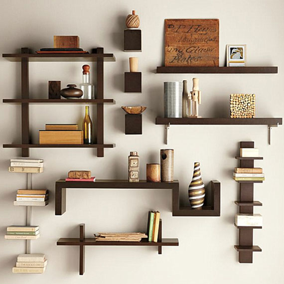 ... Hanging Shelves, Wall Shelf, Floating Shelves, Contemporary Wall Shelves,  Wall Mounted Shelving