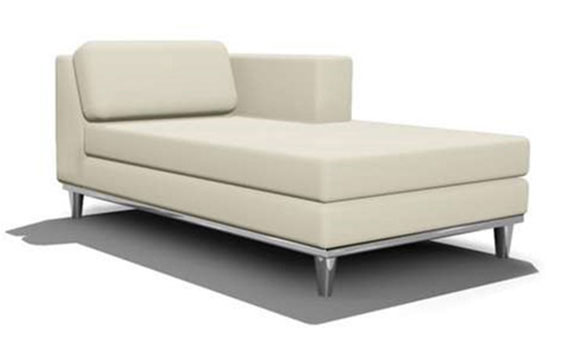 Chaise relax top d model wing chaise lounge with chaise for Sofa exterior conforama