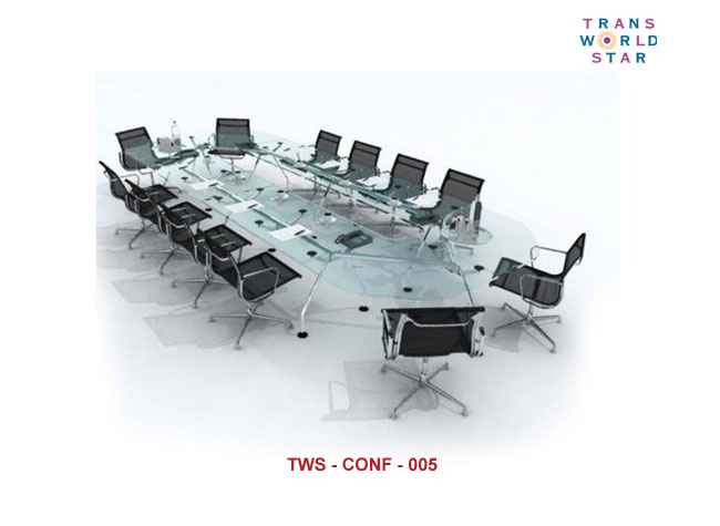 Ergonomic Modular Conference Tables Modern Glass Top Conference