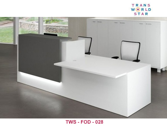 ... Straight Reception Table, Raised Reception Desk, And L Shaped Reception  Desk, Front